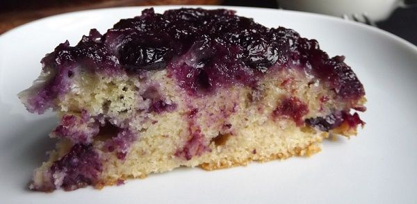 Traditional Newfoundland Blueberry Upside Down Cake Recipe