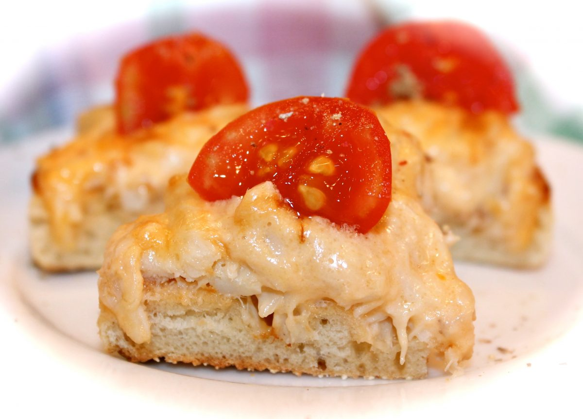 Crab Meat Canapes